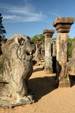 Polonnaruwa ruin, Nissanka Mallas Palace, Sri Lanka Royalty Free Stock Photo