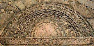 Polonnaruwa ruin, Sandakada Pahana Ground Relief Side, Sri Lanka Royalty Free Stock Photo