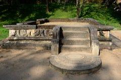 Polonnaruwa ruina, Royal Palace, Sri Lanka Zdjęcie Stock