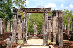 The Polonnaruwa ruins Stock Photos