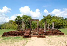 The Polonnaruwa ruins Royalty Free Stock Images