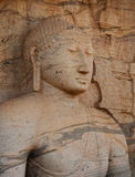 Polonnaruwa, Sri Lanka. Close-up shot Gal Vihara Buddhist statue Stock Images