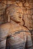 Polonnaruwa, Sri Lanka. Close-up shot Gal Vihara Buddhist statue Royalty Free Stock Photo