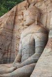 Polonnaruwa. Sri Lanka. Gal Vihara Buddhist Statue Stock Images