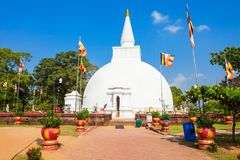 Polonnaruwa in Sri Lanka. Somawathiya Chaitya or Somawathi Rajamaha Viharaya is a Buddhist Stupa and Temple situated in the ancient city of Polonnaruwa, Sri Royalty Free Stock Photos