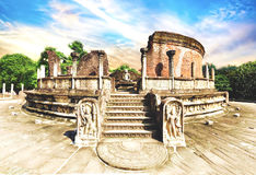 Polonnaruwa Vatadage Royalty-vrije Stock Foto's