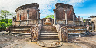 The Polonnaruwa Vatadage. Panorama Stock Image