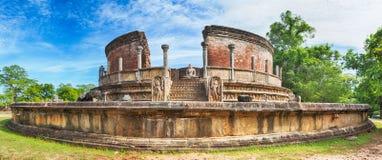 The Polonnaruwa Vatadage. Panorama royalty free stock images