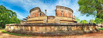 The Polonnaruwa Vatadage. Panorama Stock Images