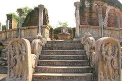 Polonnaruwa Vatadage, Polonnaruwa i Sri Lanka Arkivbild