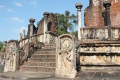 Polonnaruwa Vatadage site Sri Lanka.  Royalty Free Stock Photo