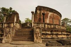 Polonnaruwa Vatadage, Sri Lanka Immagine Stock Libera da Diritti