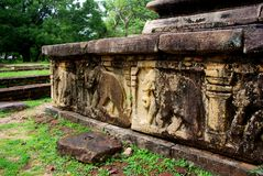 Polonnaruwadetail Royalty-vrije Stock Fotografie