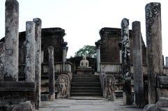 Polonnaruwaen - medeltida huvudstad av Sri Lanka Arkivfoto