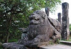 Polonnaruwaen - medeltida huvudstad av Sri Lanka Arkivfoton