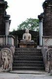 Polonnaruwaen - medeltida huvudstad av Sri Lanka Royaltyfri Foto