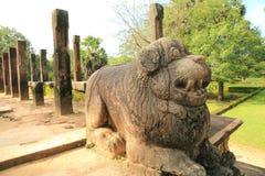 Polonnaruwaruïne in Sri Lanka Stock Foto