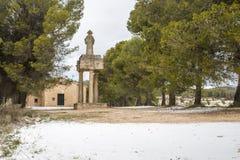 Polop erem Alcoy, Alicante, Hiszpania fotografia royalty free