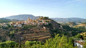 Polop. The nice village of Polop, Spain Royalty Free Stock Images