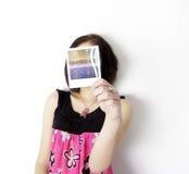 Poloroid woman Stock Photos