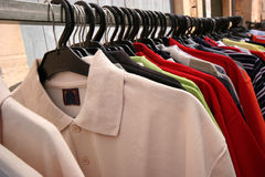 Polos. Hirts on a market Royalty Free Stock Photography