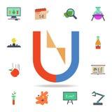 polos coloridos no ícone do ímã Grupo detalhado de ícones da ciência colorida Projeto gráfico superior Um dos ícones da coleção p ilustração stock