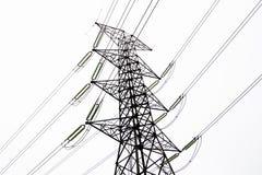 Polos de la electricidad Imágenes de archivo libres de regalías