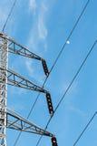 Polos de poder com fios Foto de Stock