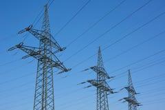 Polos de poder da eletricidade Fotografia de Stock Royalty Free