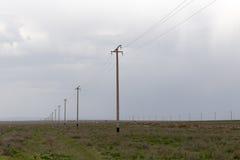 Polos de poder no deserto Fotografia de Stock