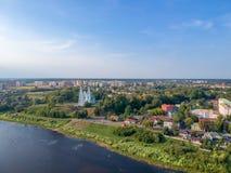 Polotsk, Belarus. Panorama stock photos