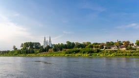Polotsk, Bielorrússia HDR-foto do zangão imagem de stock