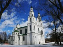 Polotsk Sophia Cathedral in the spring Royalty Free Stock Photo