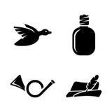polowanie Proste Powiązane Wektorowe ikony ilustracja wektor