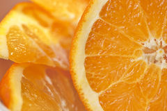 Polpa arancio succosa Fotografia Stock