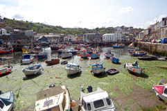 Polperro boats Royalty Free Stock Images