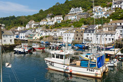 Polperro Cornwall England with blue sky Royalty Free Stock Photos