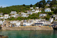 Polperro Cornwall England in summer sun Royalty Free Stock Photo