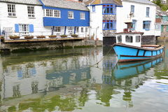 POLPERRO, CORNWALL, UK: Polperro fishing port Royalty Free Stock Photography