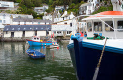 Polperro fishing village harbor Stock Image