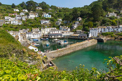 Polperro Harbour Cornwall England Stock Photo