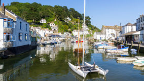 Polperro Harbour Cornwall England Stock Photography
