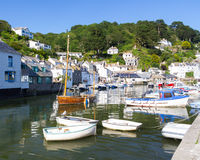Polperro Harbour Cornwall England Stock Images