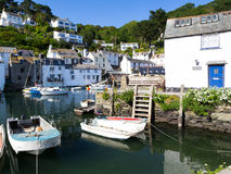 Polperro Harbour Cornwall England Royalty Free Stock Photos