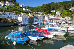 Polperro Harbour Cornwall England Royalty Free Stock Photo
