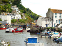 Polperro, Harbour, Cornwall. Royalty Free Stock Photos