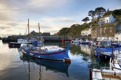 Polperro harbour Royalty Free Stock Images
