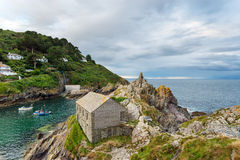 Polperro i Cornwall Royaltyfria Bilder