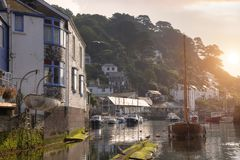Polperro Sunrise Royalty Free Stock Images