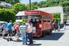 Polperro Tram Stock Photography